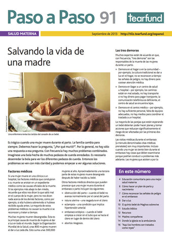 Footsteps 91: Maternal health (Spanish)
