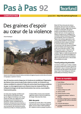 Footsteps 92: Conflict and peace (French)