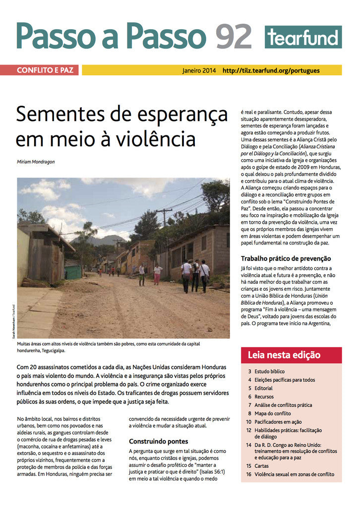 Footsteps 92: Conflict and peace  (Portuguese)