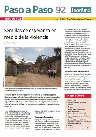 Footsteps 92: Conflict and peace  (Spanish)