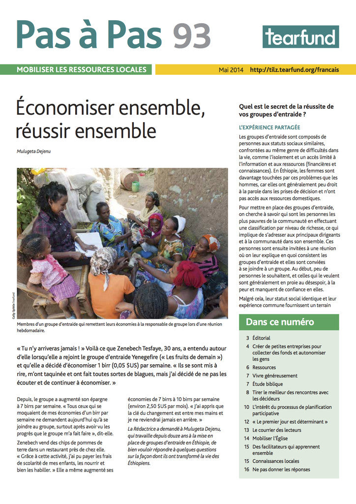 Footsteps 93: Mobilising local resources (French)