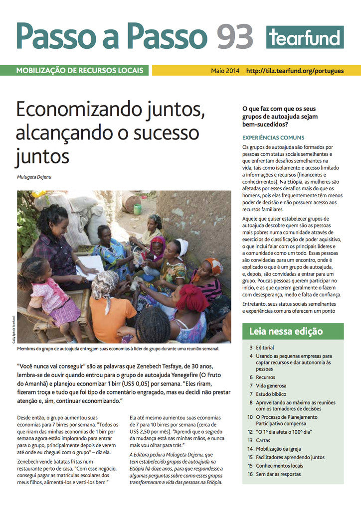 Footsteps 93: Mobilising local resources (Portuguese)
