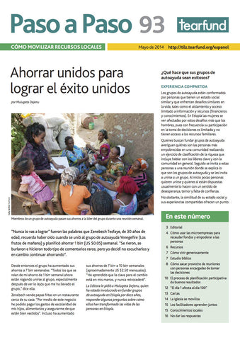 Footsteps 93: Mobilising local resources (Spanish)