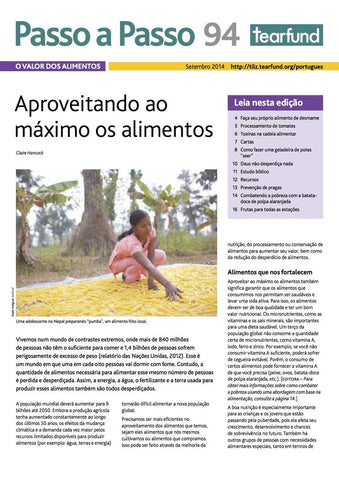 Footsteps 94: Valuing food (Portuguese)