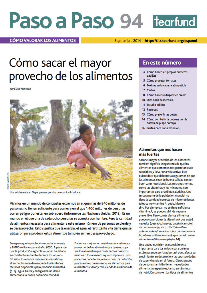 Footsteps 94: Valuing food (Spanish)
