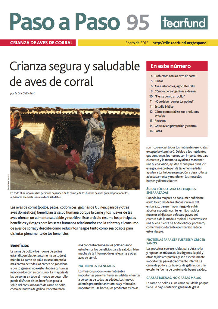 Footsteps 95: Poultry keeping (Spanish)