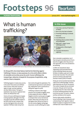Footsteps 96: Human trafficking (English)