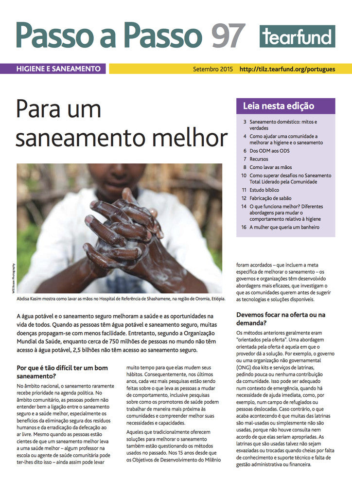 Footsteps 97: Hygiene and sanitation (Portuguese)
