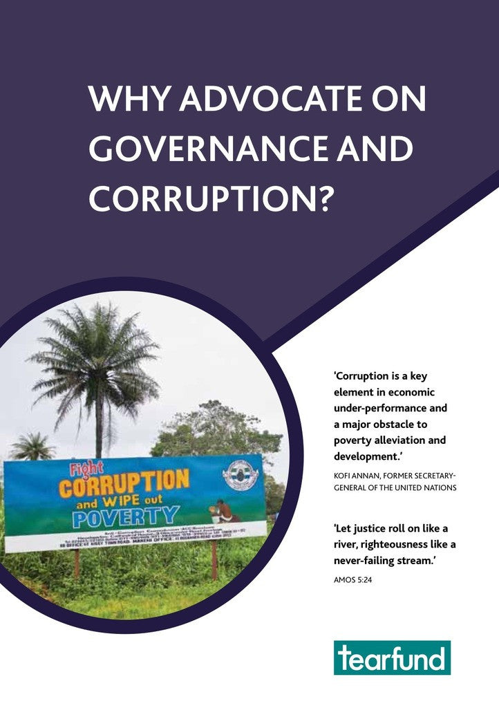 Why advocate on governance and corruption? (English)
