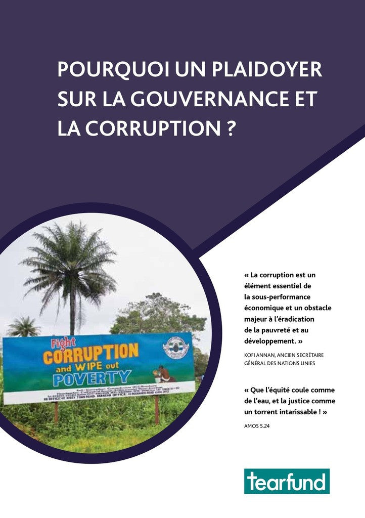 Why advocate on governance and corruption? (French)