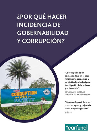 Why advocate on governance and corruption? (Spanish)