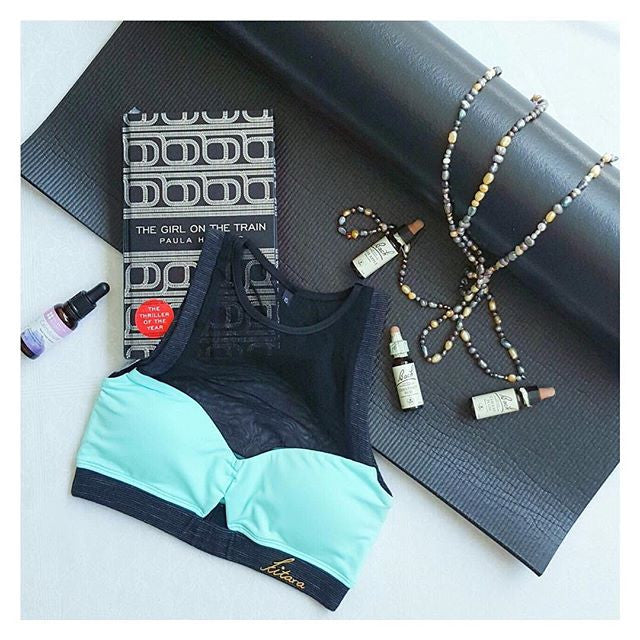 Dipika Teal High Neck Bandeau Top Flatlay Kitara Rouge