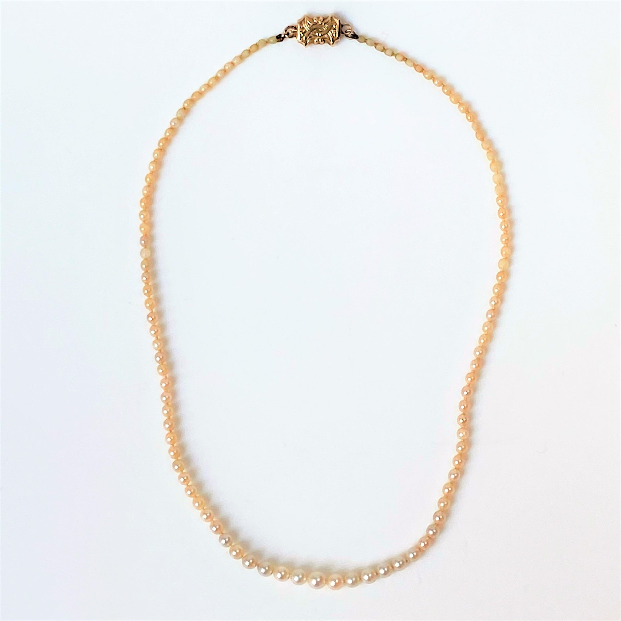 Graduated Cultured Pearl Necklace with 14ct Gold Clasp