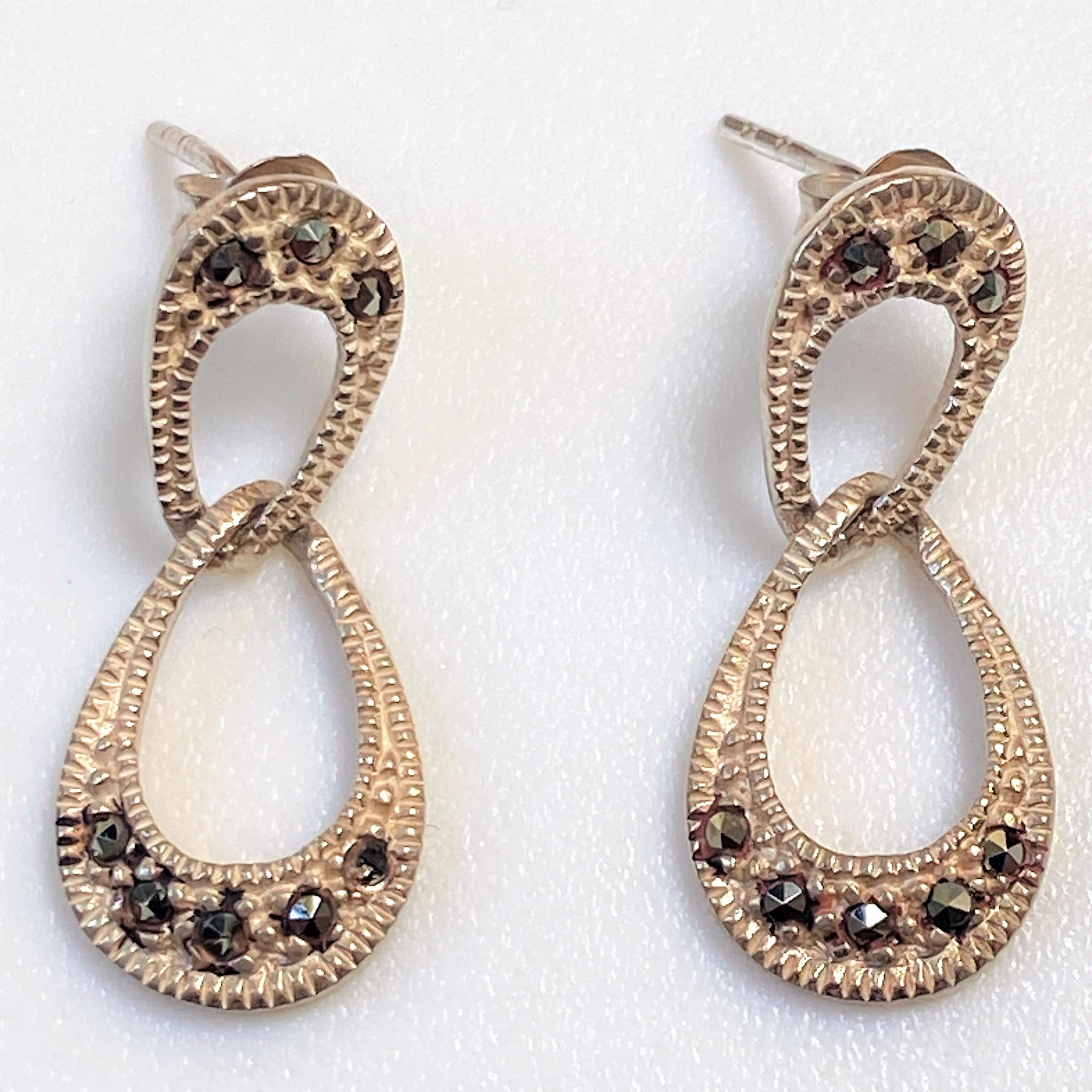 14ct Gold Chinese Character Stud Earrings