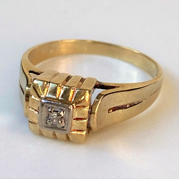 Vintage 14ct Gold and Diamond Ring
