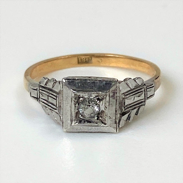 Antique 18ct Gold and Diamond Ring