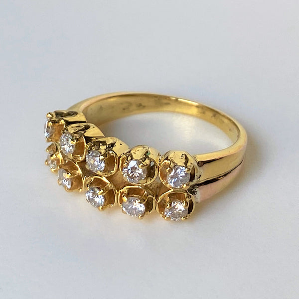 Vintage 18ct Yellow Gold and Diamond Ring