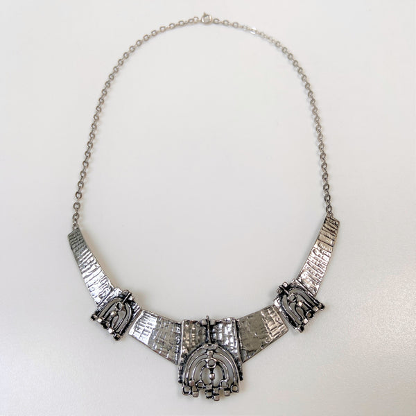 Mid-20th Century Stylised Sterling Silver Necklace