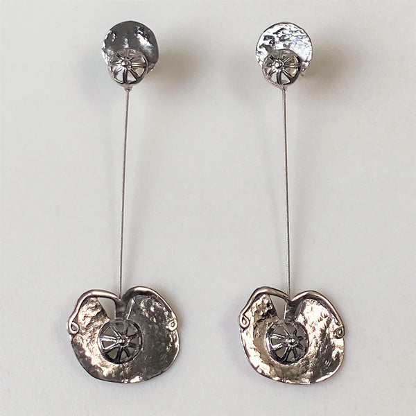 Designer Sterling Silver Drop Earrings by Iosif