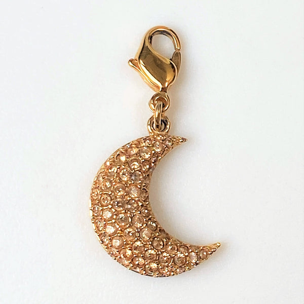 Swarovski Rose Gold-Plated and Crystal Moon Pendant