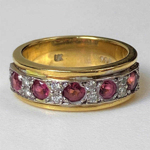 18ct Gold, Pink Tourmaline and Diamond Ring by Uwe Koetter