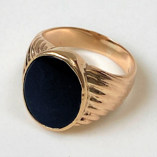 9ct Gold and Onyx Men's Signet Ring
