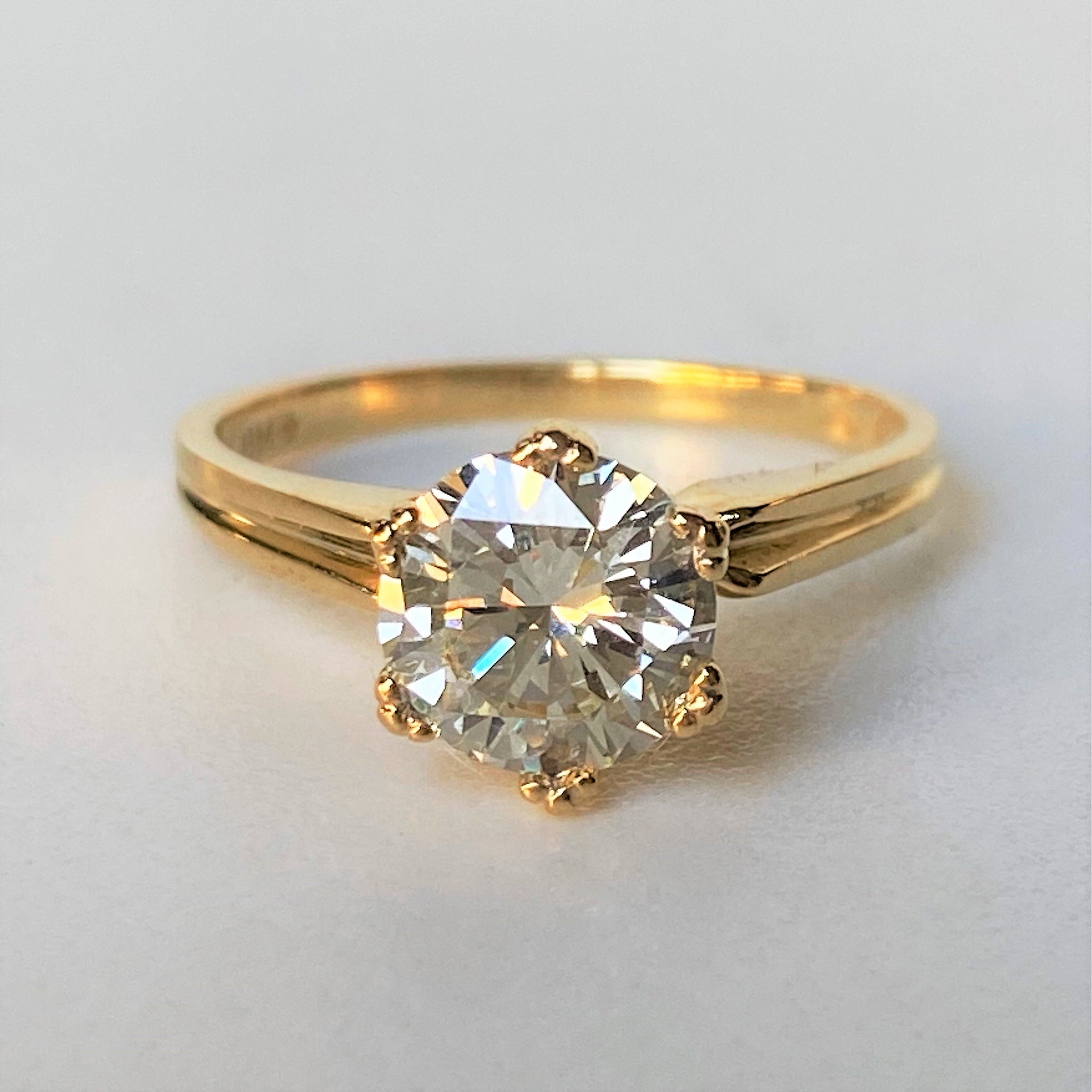 18ct Yellow Gold Solitaire 1.42ct Diamond Ring