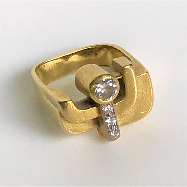 18ct Gold and Diamond Ring by Ewald Kratz