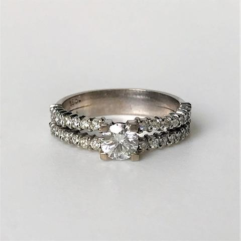 18ct White Gold and Diamond Ring