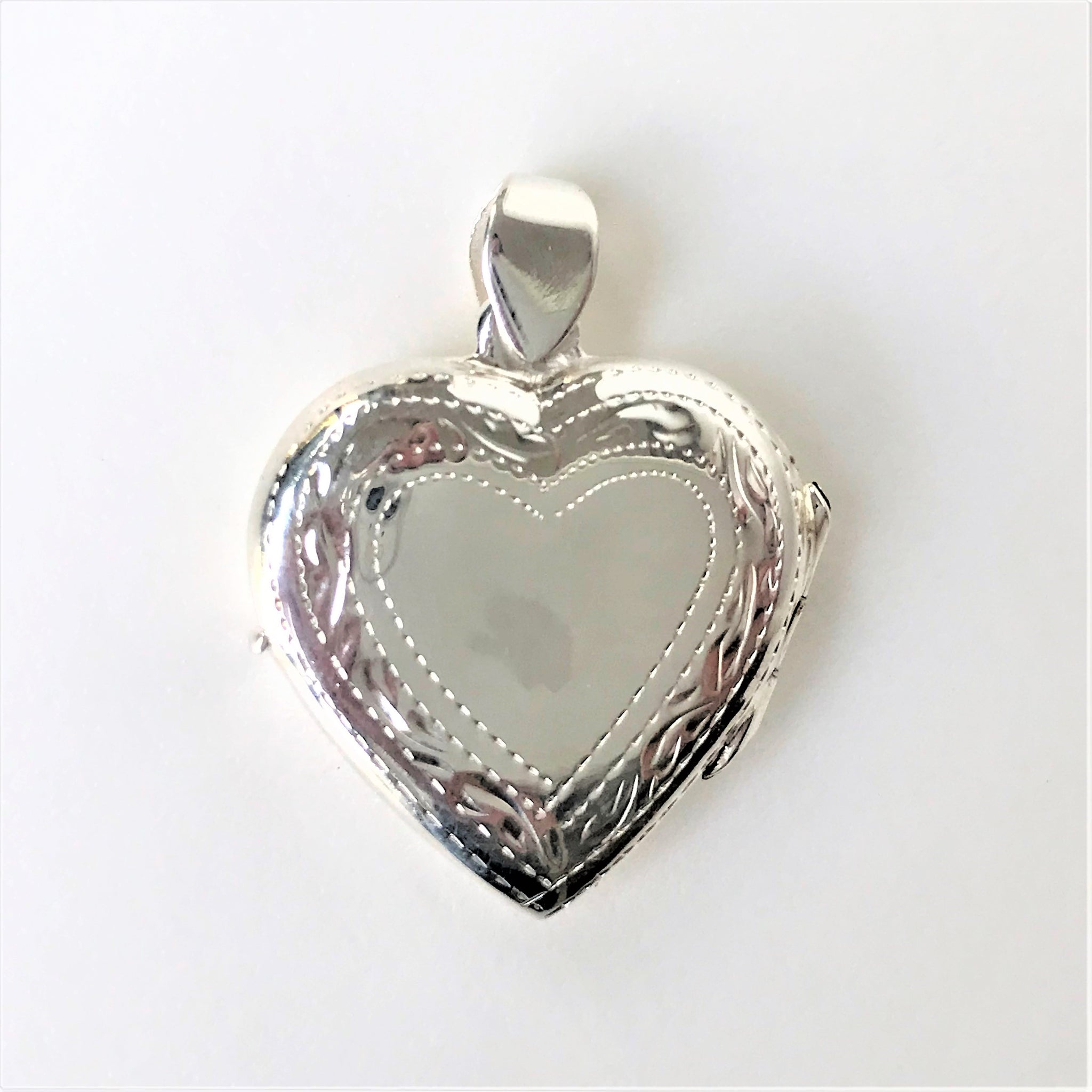 Sterling Silver Heart-shaped Pendant Locket
