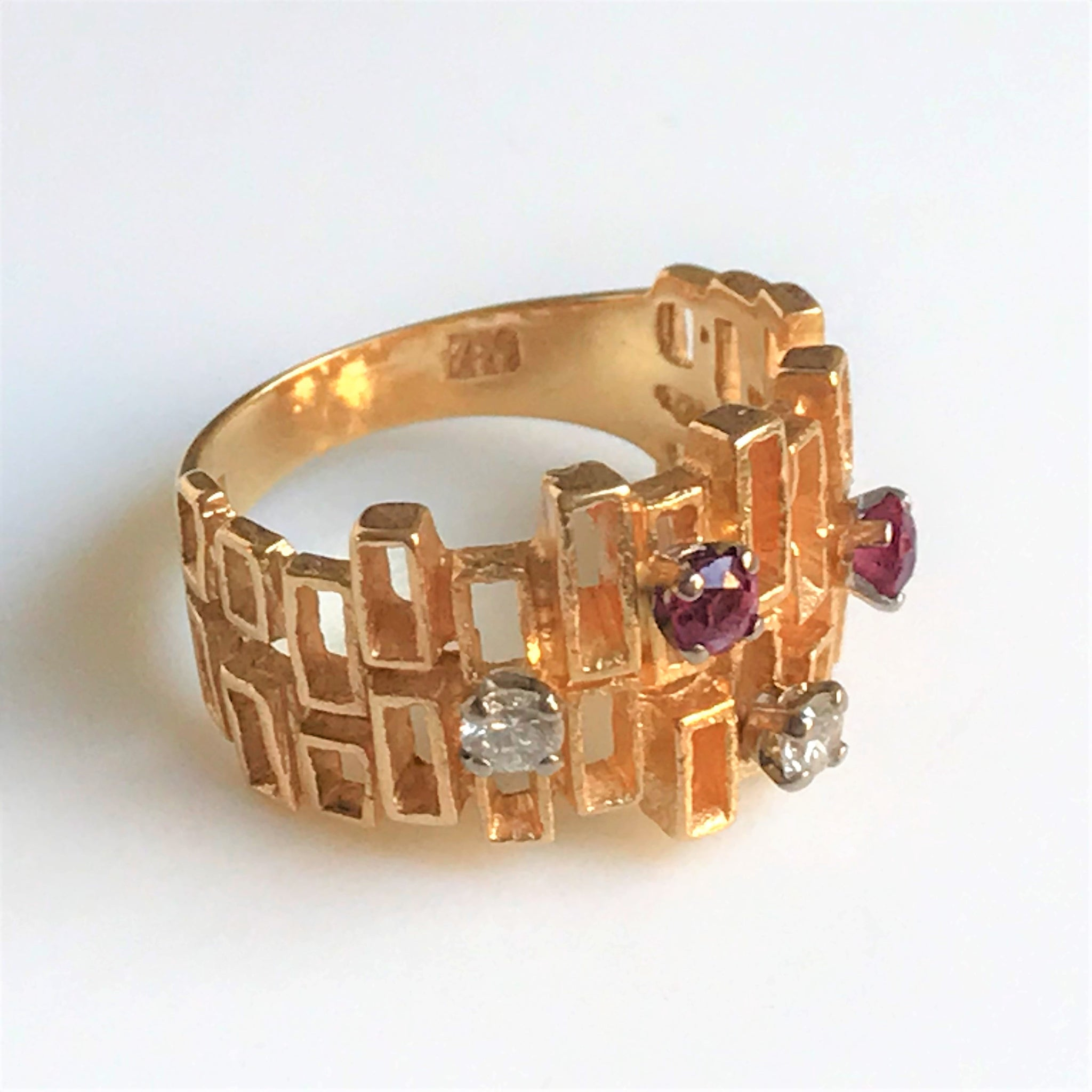 18ct Gold, Diamond and Ruby Dress Ring