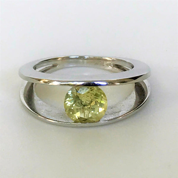 18ct White Gold and Lemon Quartz Ring