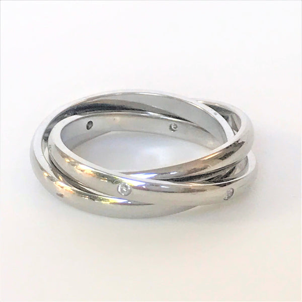 Stainless Steel and Cubic Three-band Man's Russian Wedding Ring