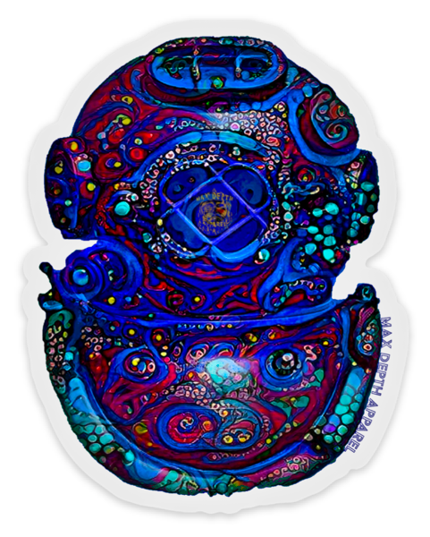 Bioluminescent helmet sticker