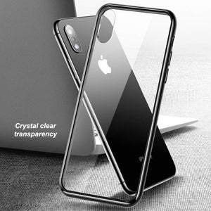 0.7mm Tempered Glass Back Cover for iPhone X - Happiness Idea