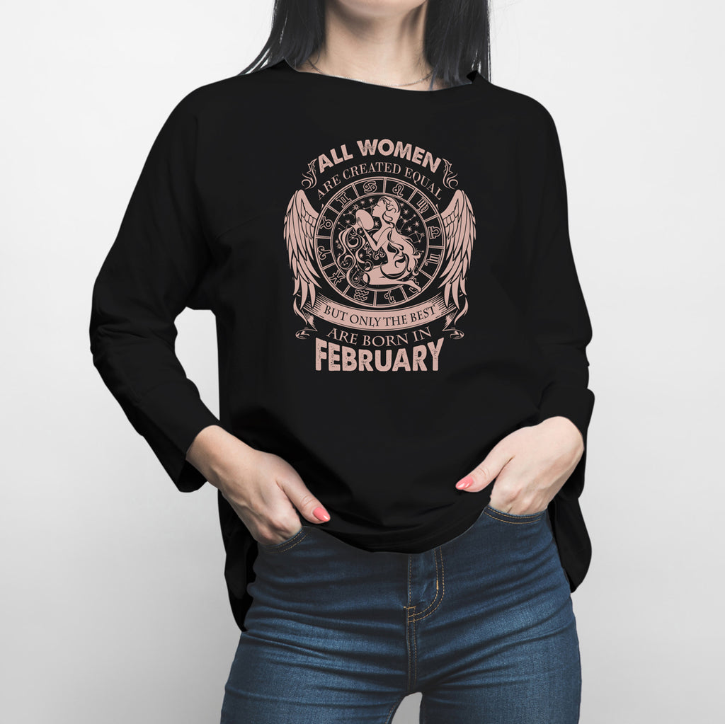 Horoscope Aquarius February Long Sleeve Shirt
