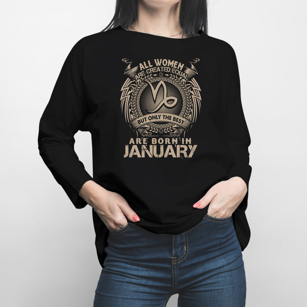 Horoscope Capricorn January Long Sleeve Shirt