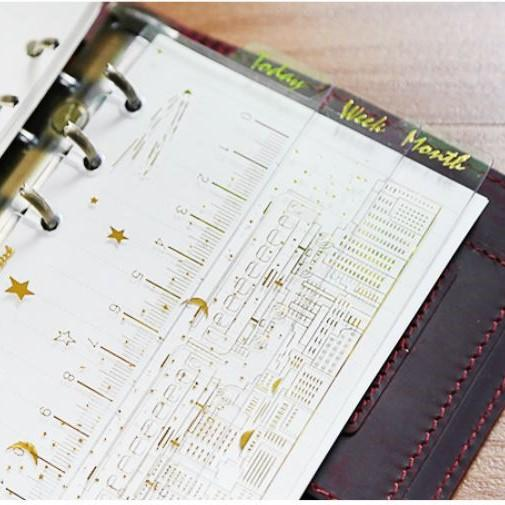 A6 Planner Gold Foiled Ruler - Happiness Idea