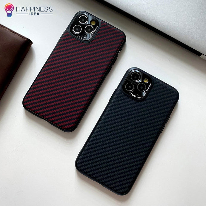 Aramid Fiber case for iPhone - Happiness Idea
