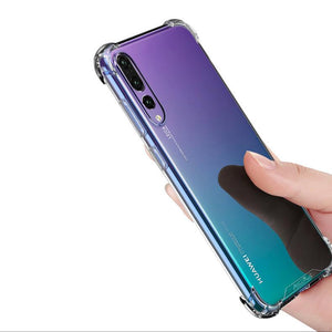 Atouchbo Anti-shock Clear Case For Huawei P20 / P20 Pro - Happiness Idea