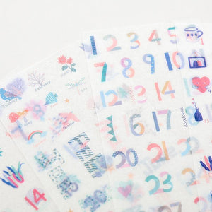 Blue Girl Planner Stickers (4 pcs) - Happiness Idea