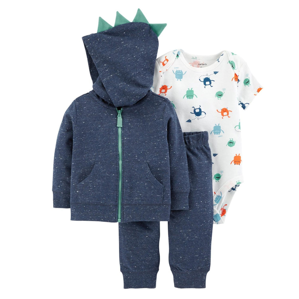 Carter's 3 Pcs Monster Little Jacket Set - Happiness Idea
