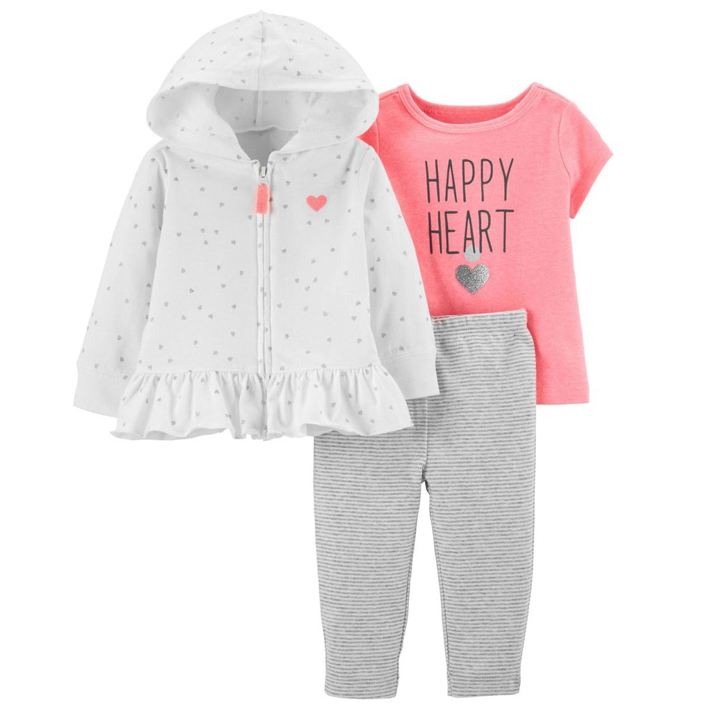 Carter's 3Pcs Little Cardigan Set - Happiness Idea