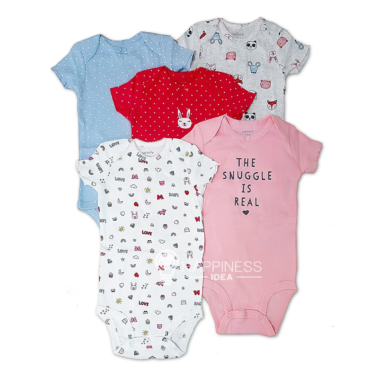 Carter's 5-Pack Basic Original Bodysuits - Happiness Idea