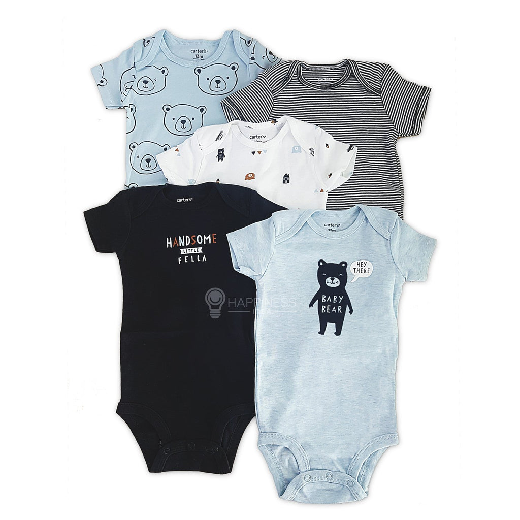 Carter's 5-Pack Bear Original Bodysuits - Happiness Idea