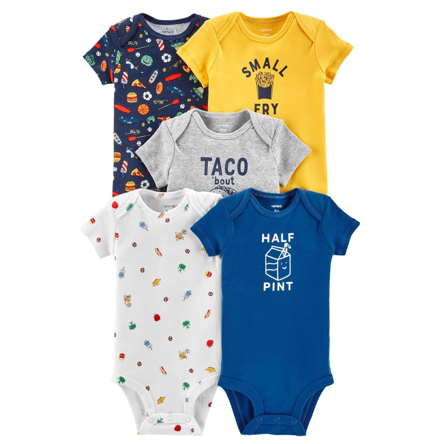 Carter's 5-Pack Food Original Bodysuits - Happiness Idea