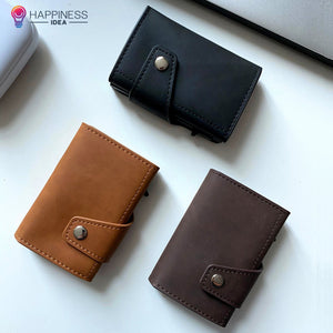 EasyAccess RFID Blocking PU Leather Wallet - Happiness Idea