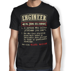 Engineer Definition Unisex T-shirt - Happiness Idea