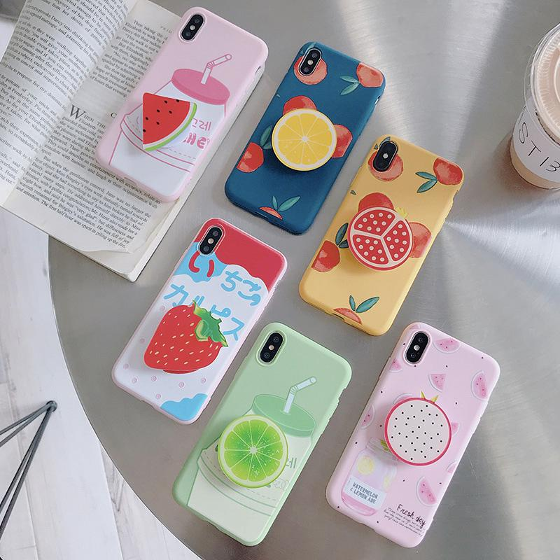 Fruity Series Soft Silicone Case for iPhone - Happiness Idea