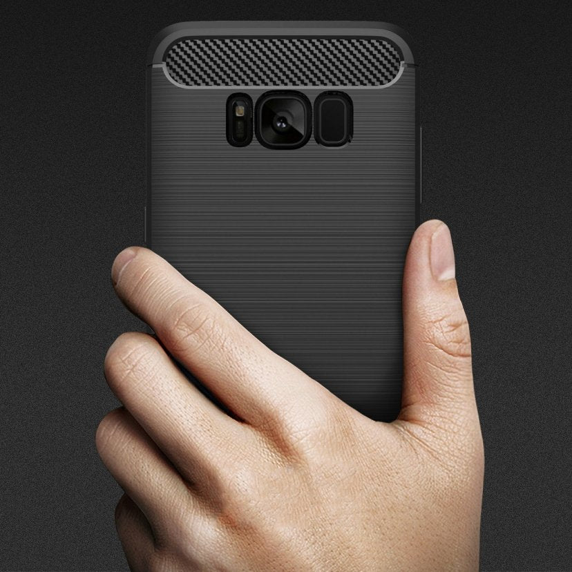 Galaxy S8 Brushed Carbon Fiber Design Case - Happiness Idea